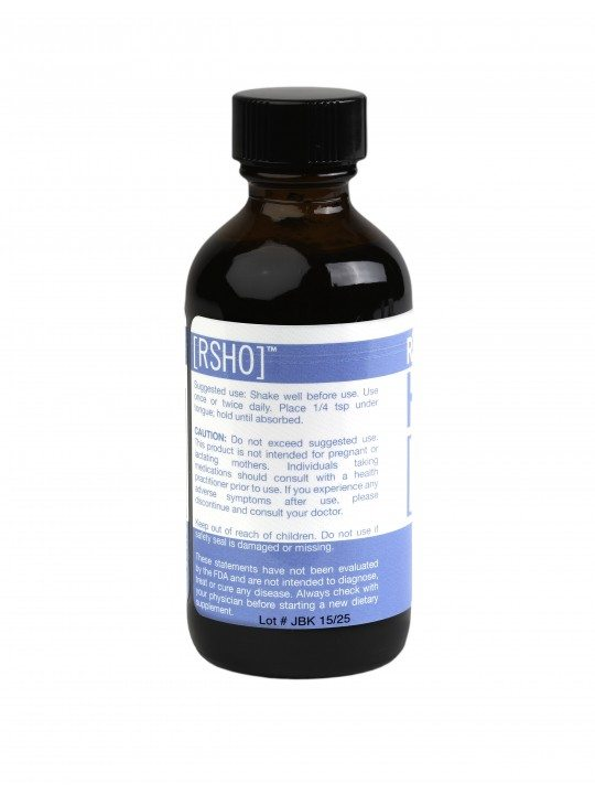 Real Scientific Hemp Oil, CBD Oil, Blue Label, Natural Flavor, 2oz, 500mg of CBD_back_label