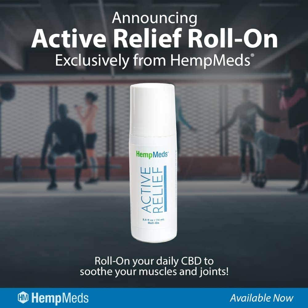 Hemp Meds, Active Relief Roll-On, 2.5oz, 10mg of hemp extract