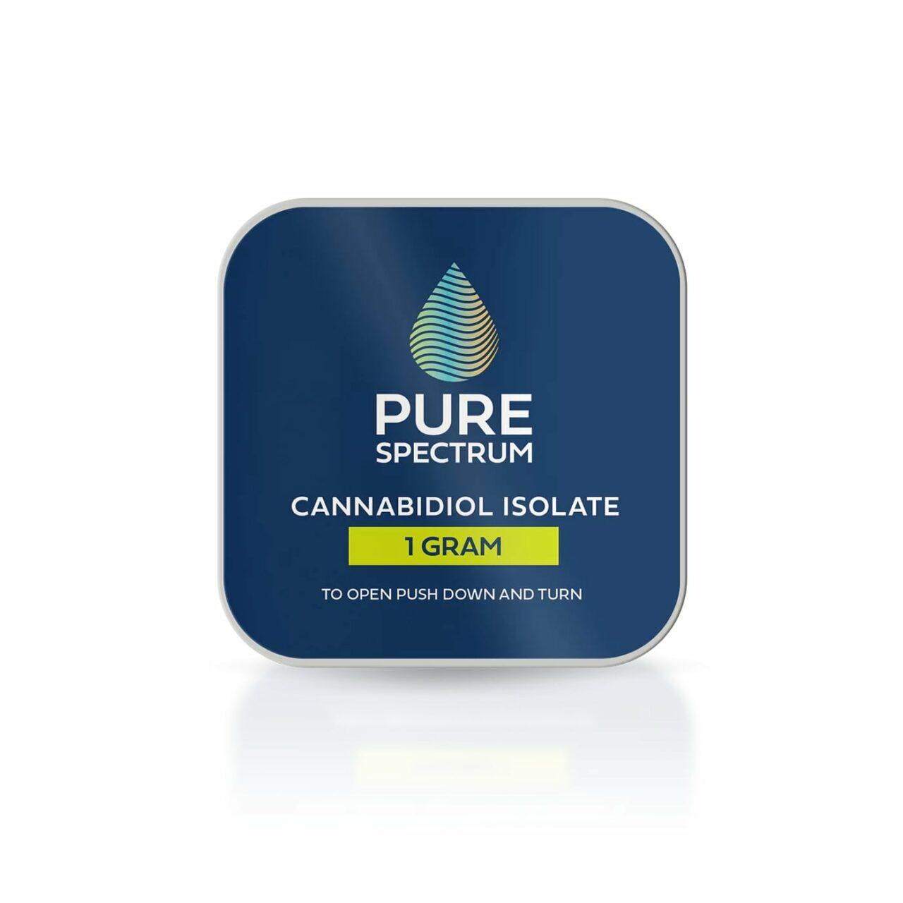 Pure Spectrum, 99% CBD Isolate Powder, 1g, 1000mg of CBD