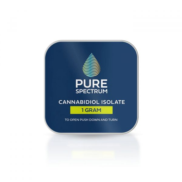 Pure Spectrum, 99% CBD Isolate Powder, 1g, 1000mg of CBD