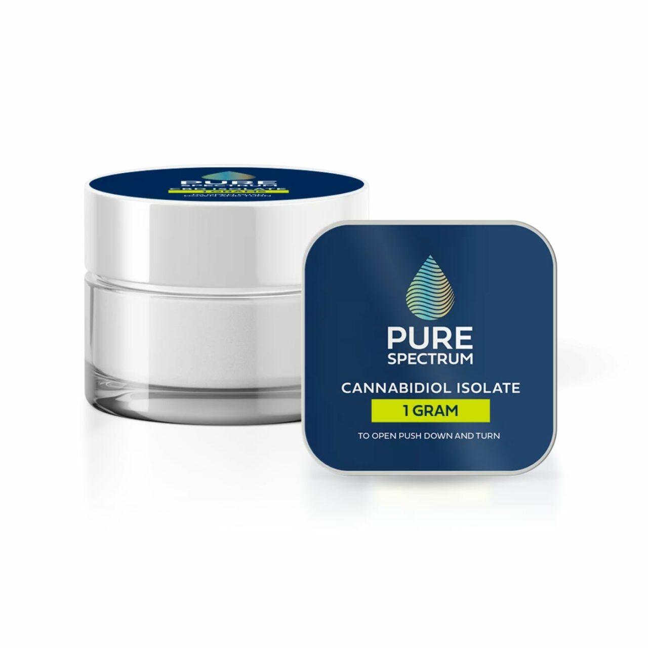 Pure Spectrum, 99% CBD Isolate Powder, 1g, 1000mg of CBD2
