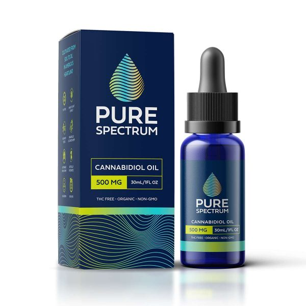 Pure Spectrum, CBD Oil Tincture, Cannabidiol Oil 30ml 500mg of CBD