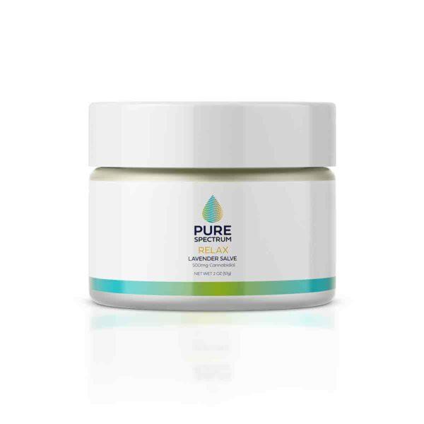 Pure Spectrum, Relaxing Salve, Lavender, 2oz, 500mg of CBD