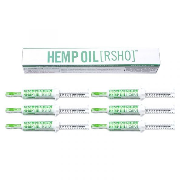Real Scientific Hemp Oil, Green Label 15g Oral Applicator 6 Pack