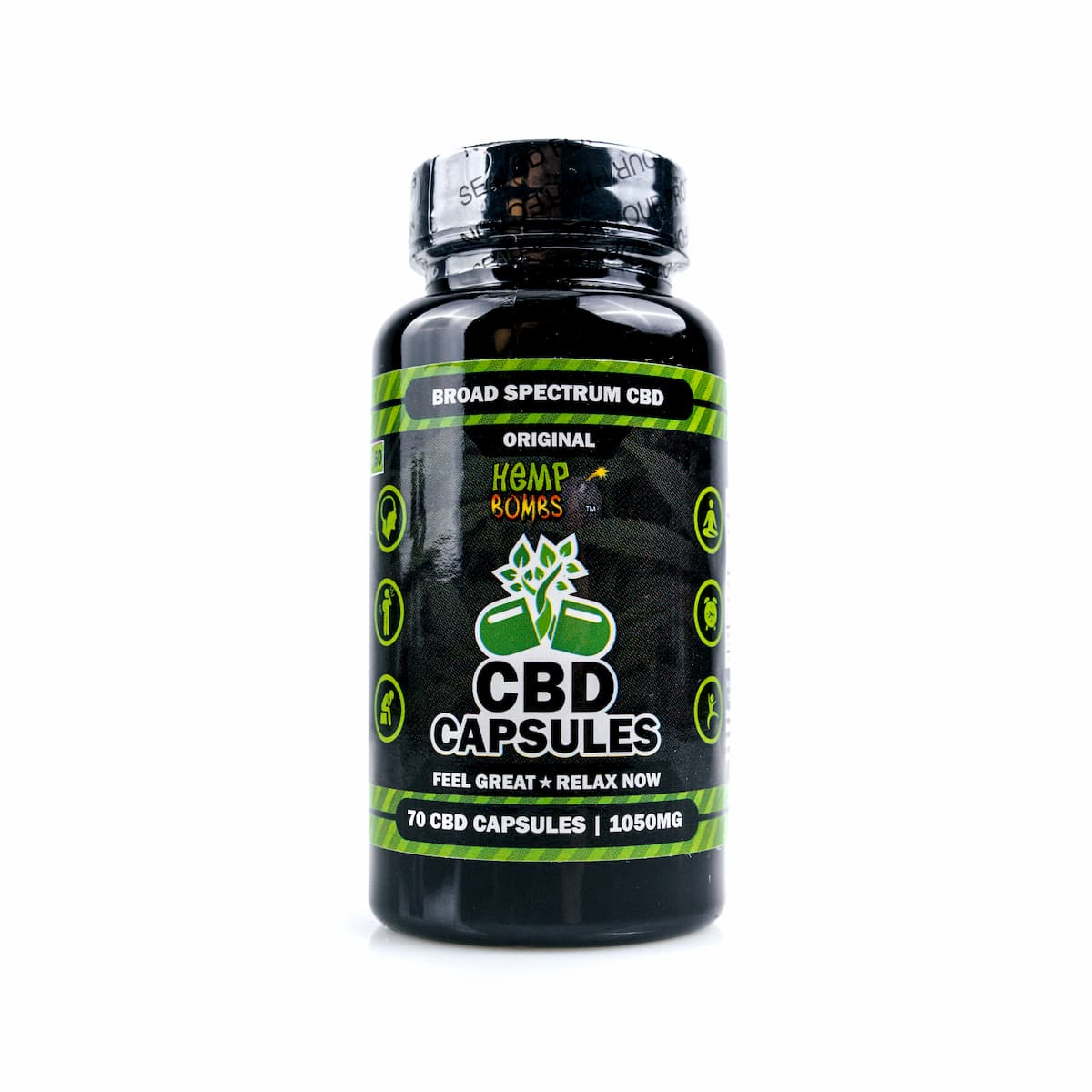 Hemp Bombs, CBD Capsules, Full Spectrum, 70 Capsules, 1050mg of CBD