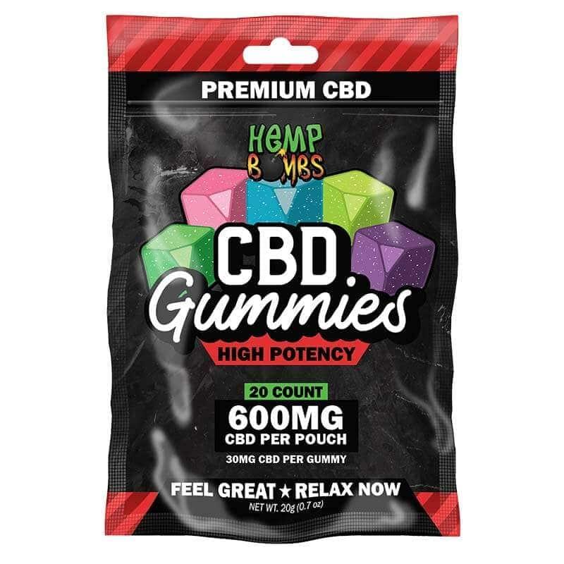 Hemp Bombs, CBD Gummies, Max Strength, 12 Count, 180mg of CBD