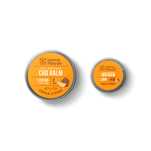 Lazarus Naturals, Cedar Citrus Full Spectrum CBD Balm, 0.67oz, 400mg of CBD2