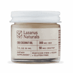 Lazarus Naturals, CBD Coconut Oil, 1oz (30ml), 300mg of CBD