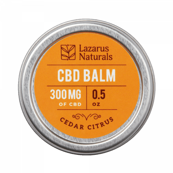Lazarus Naturals, Cedar Citrus CBD Balm, 0.5oz, 300mg of CBD