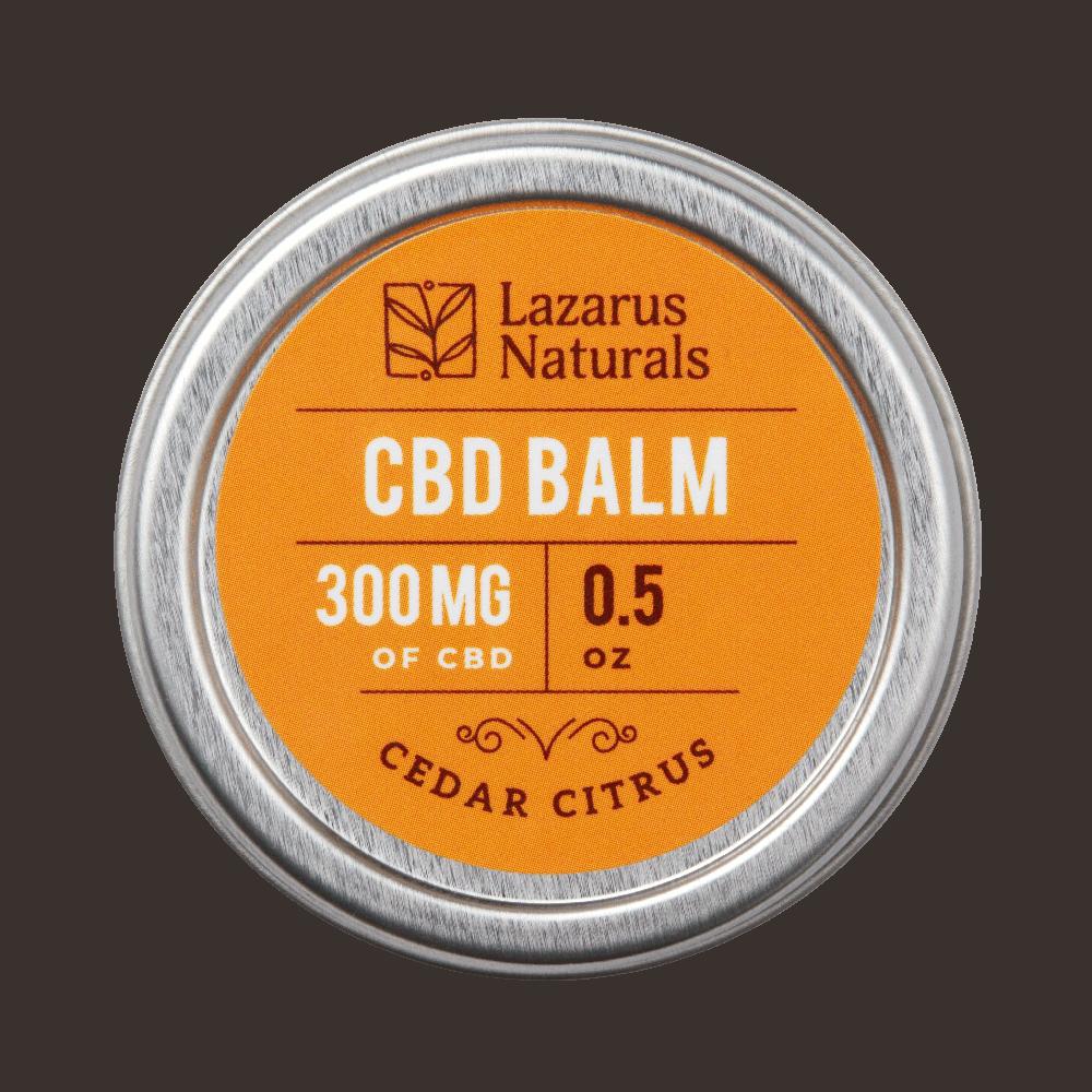 Lazarus Naturals, Cedar Citrus CBD Balm, 0.5oz, 300mg of CBD