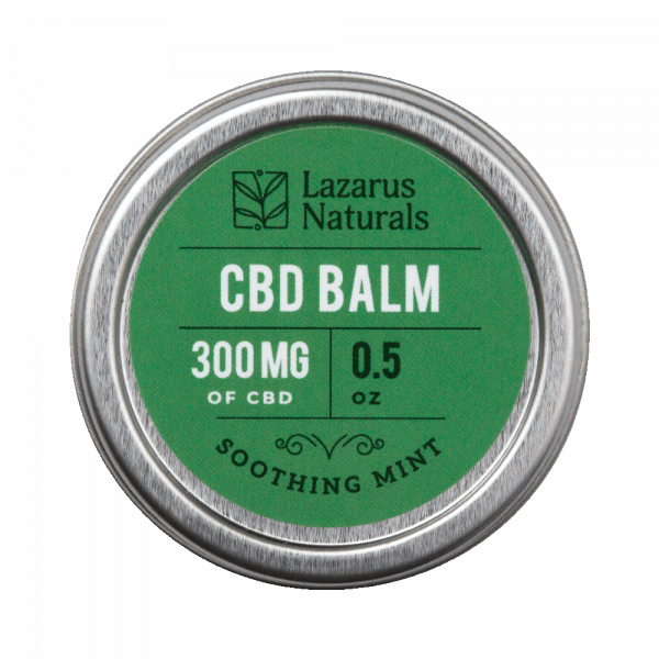 Lazarus Naturals, Soothing Mint CBD Balm, 0.5oz, 300mg of CBD