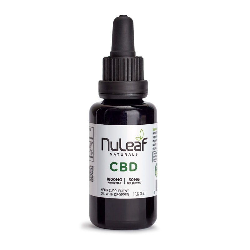 NuLeaf Naturals, Hemp CBD Oil, Full Spectrum, 30mL, 1800mg of CBD