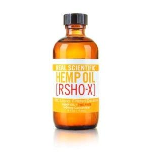 Real Scientific Hemp Oil, CBD Oil, Gold Label, Filtered, 2oz, 500mg of CBD