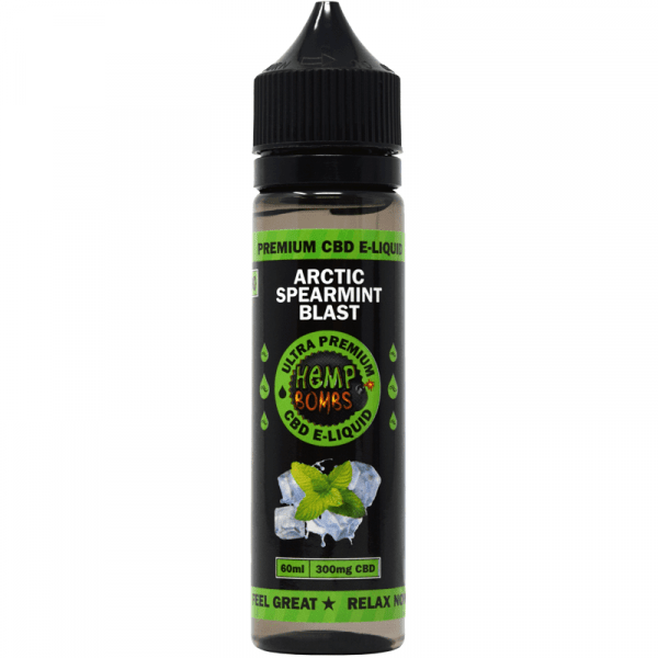 Hemp Bombs, CBD E-Liquid, Arctic Spearmint Blast, 60ml, 300mg of CBD
