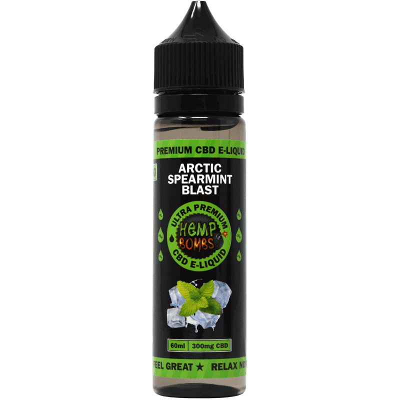 VAPE-60ml-300mg-spearmint-blast-front