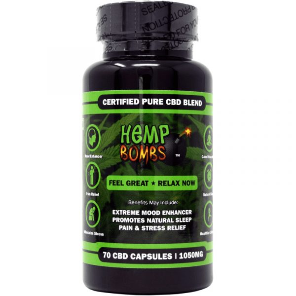 Hemp Bombs, CBD Capsules, 70 Capsules, 1050mg of CBD