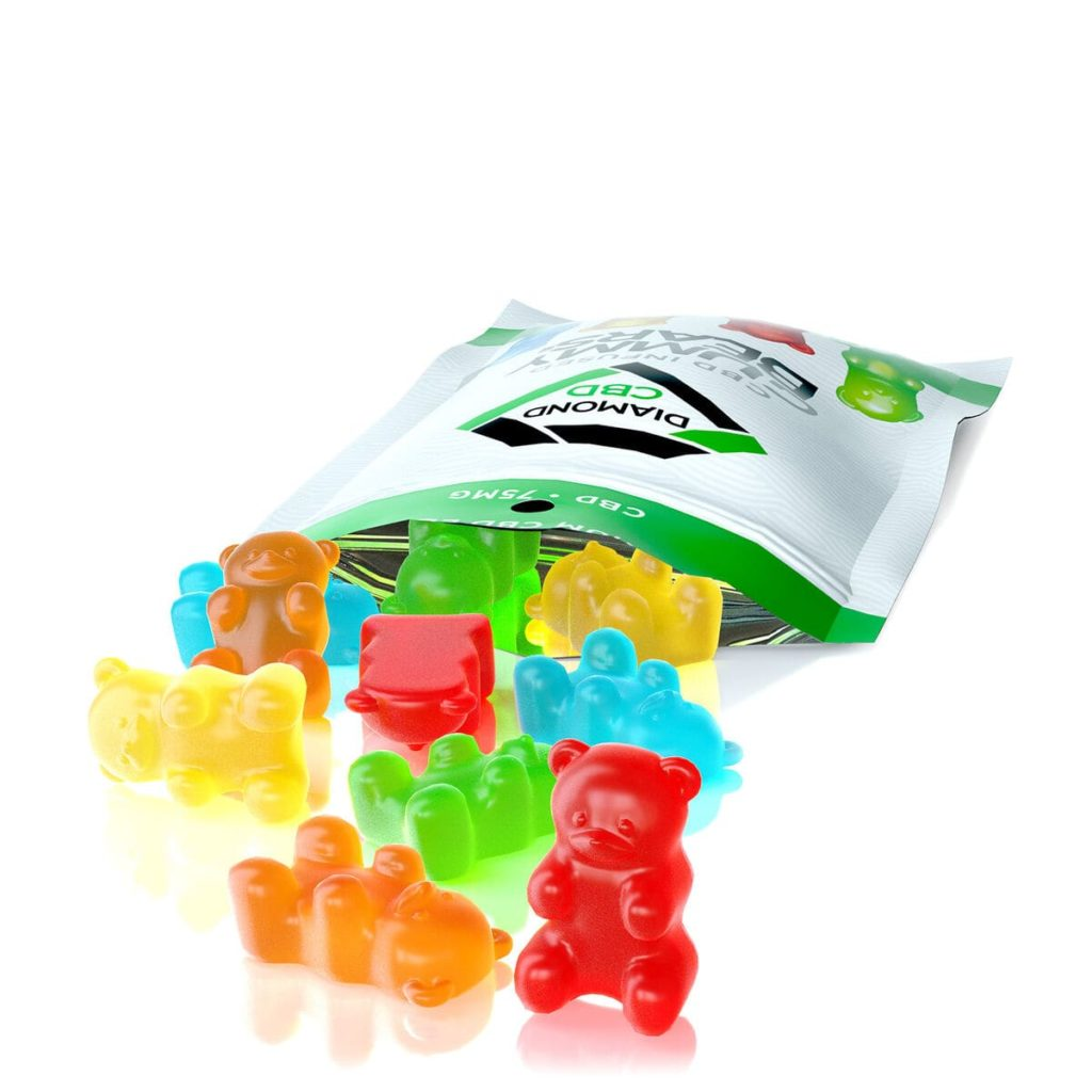 Diamond CBD, Infused Gummy Bears, 14-count, 0.75oz, 75mg of CBD