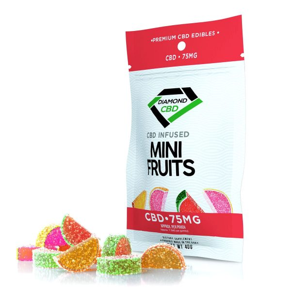 Diamond CBD, Infused Mini Fruit, 10-count, 0.75oz, 75mg of CBD