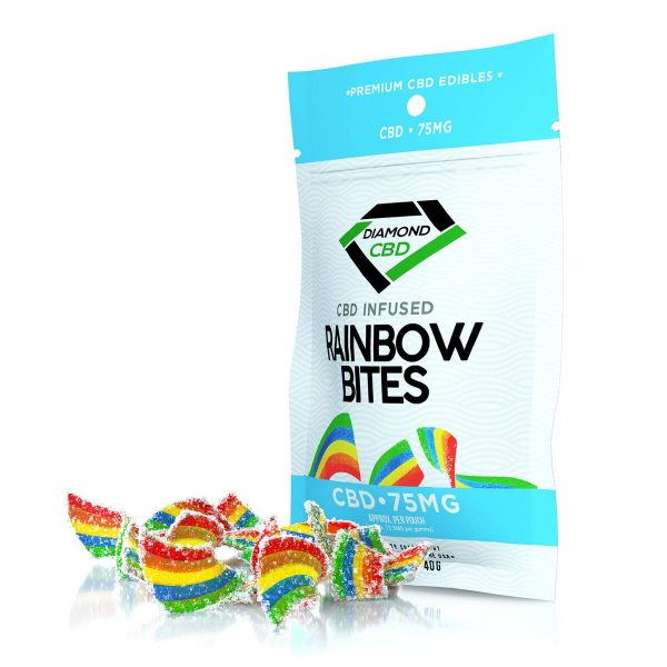 Diamond CBD, Infused Rainbow Bites, 6-count, 0.75oz, 75mg of CBD