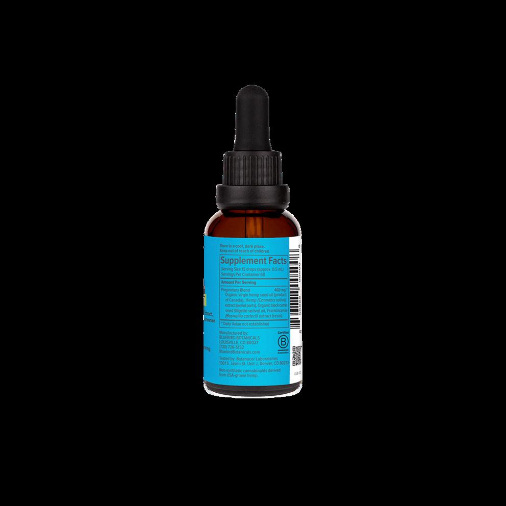 Bluebird Botanicals, Hemp CBD Extract Signature, Full Spectrum, Natural Flavor, 2oz, 500mg CBD 3