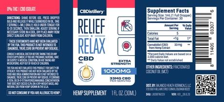 CBDistillery, CBD Isolate Oil, THC Free, 1oz, 1000mg of CBD 3