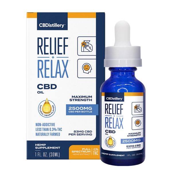 CBDistillery, CBD Oil, Full Spectrum, 1oz, 2500mg of CBD