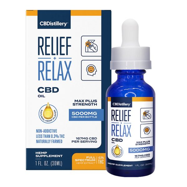 CBDistillery, CBD Oil, Full Spectrum, 1oz, 5000mg of CBD