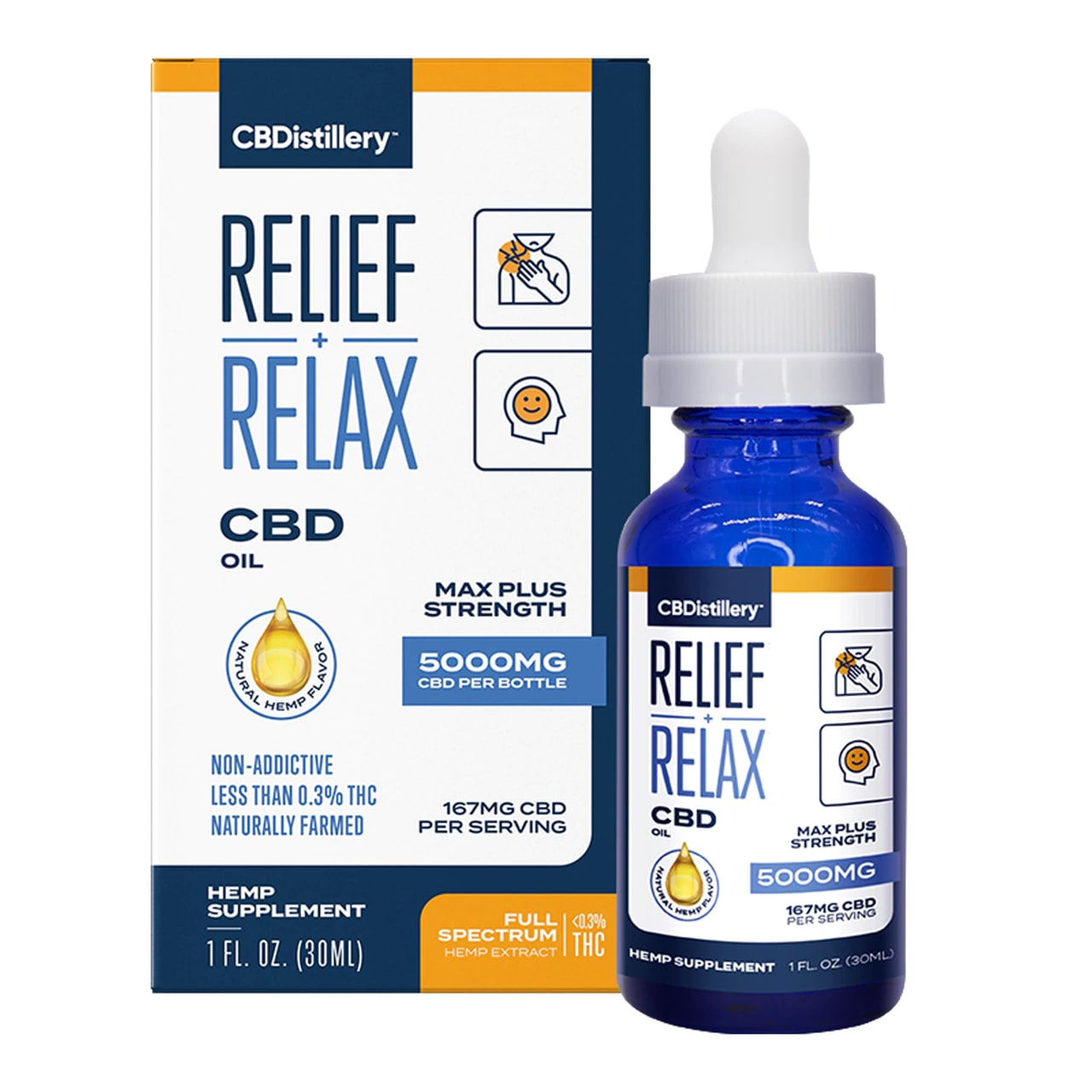 CBDistillery, CBD Oil, Full Spectrum, 1oz, 5000mg of CBD02