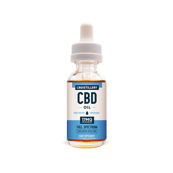 CBDistillery, CBD Oil, Full Spectrum, 1oz, 500mg of CBD
