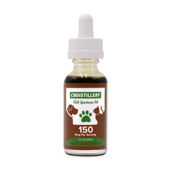 CBDistillery, Pet CBD Oil, Full Spectrum, 1oz, 150mg of CBD