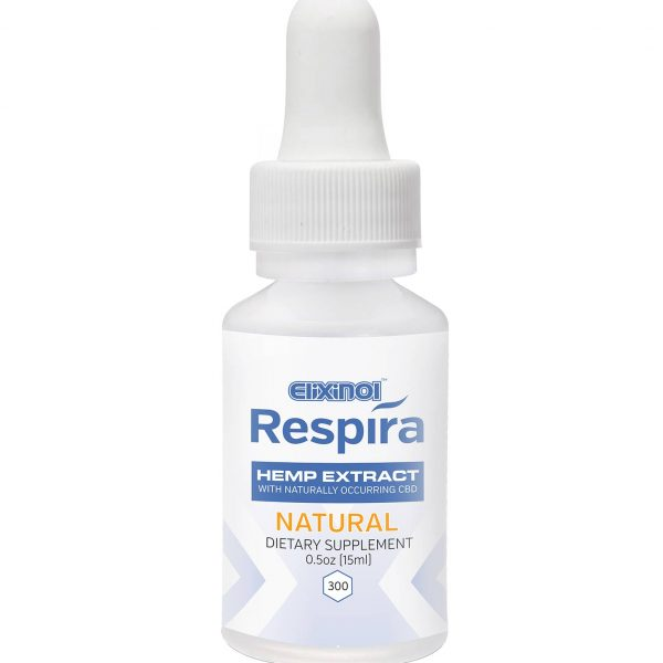 Elixinol, Respira CBD Oil, Natural Flavor, 0.5oz, 300mg of CBD