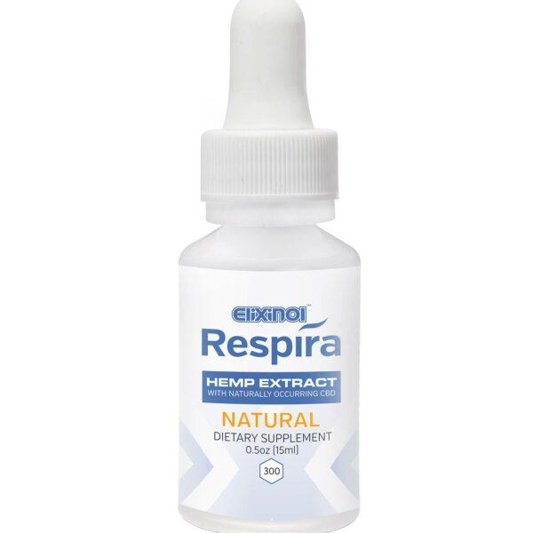 Elixinol, Respira CBD Oil, Natural Flavor, 0.5oz, 300mg of CBD