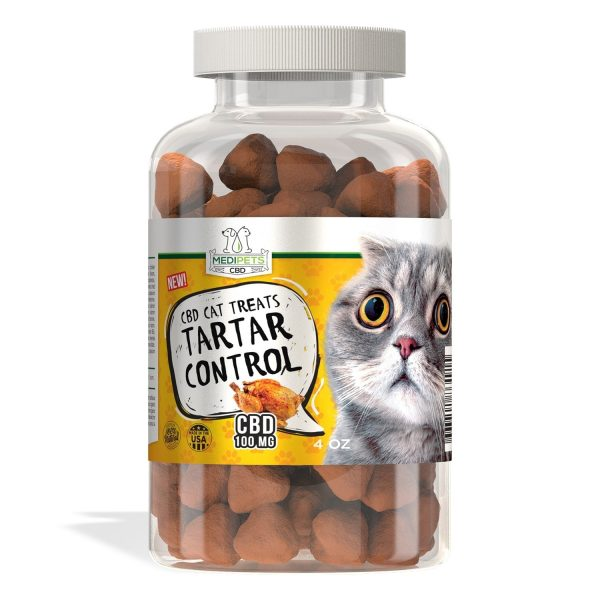 MediPets CBD, CBD Cat Treats - Cat Cafe´ Tartar Control, 150g, 100mg of CBD