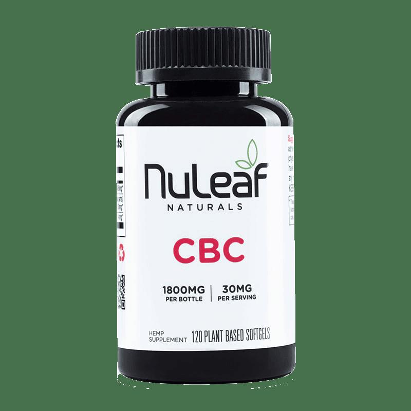 NuLeaf Naturals, CBC Capsules, Full Spectrum, 120 Softgels, 1800mg CBC