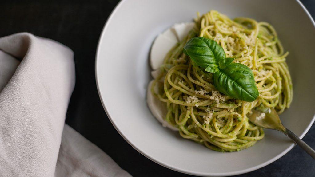 Liana Werner-Gray, a Natural Food Chef, Shares a Tasty CBD-Based Recipe for Pesto Edamame Spaghetti
