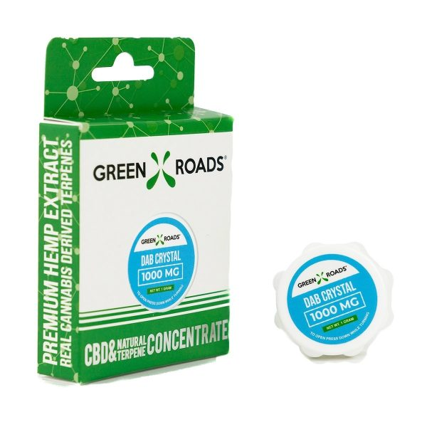 Green Roads, CBD Dabs Crystal, Isolate, 1gram, 1000mg of CBD