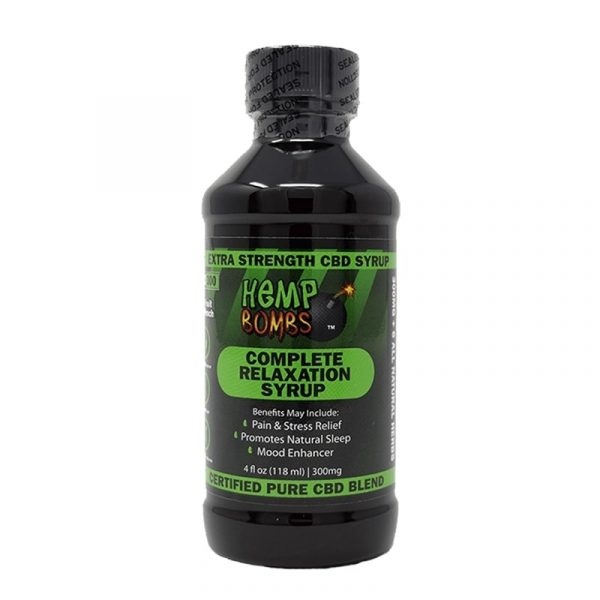 Hemp Bombs, CBD Relaxation Syrup, 4oz, 300mg of CBD