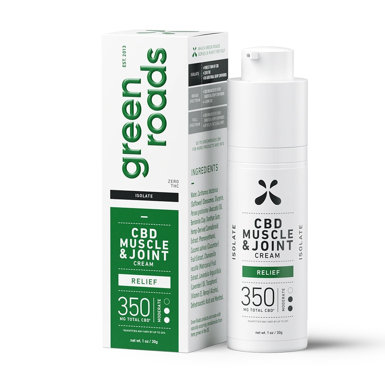 Green Roads, Muscle and Joint Relief CBD Cream, 1oz, 350mg of CBD