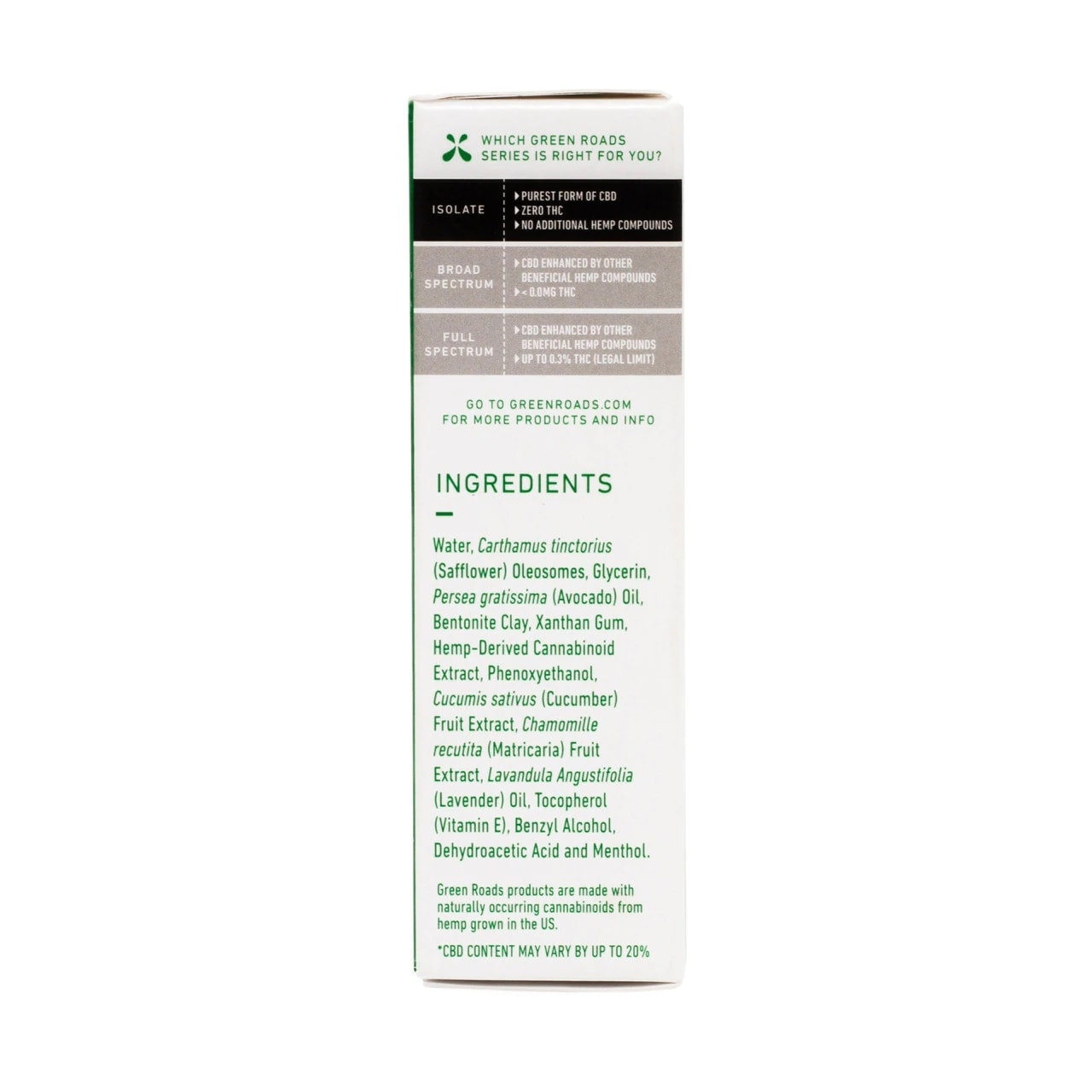 Green Roads, Muscle and Joint Relief CBD Cream, 1oz, 350mg of CBD3