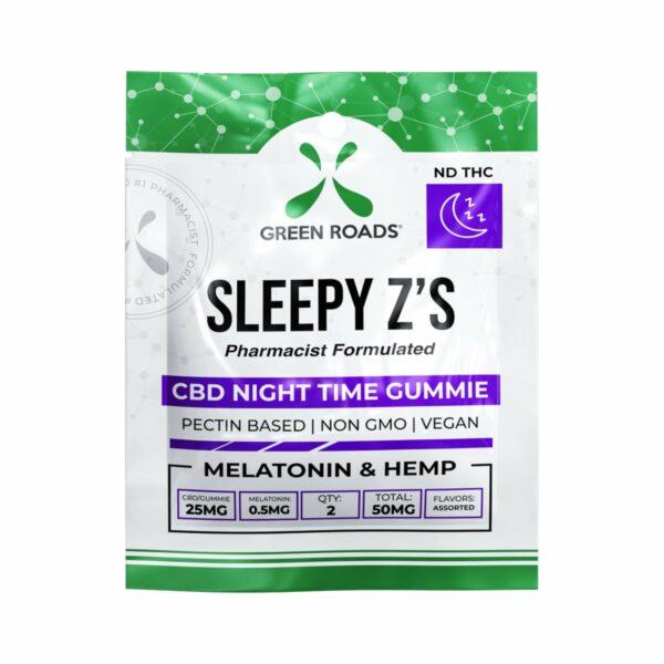 Green Roads, Sleepy Z's, CBD Gummies with Melatonin, 2 count, 50mg of CBD
