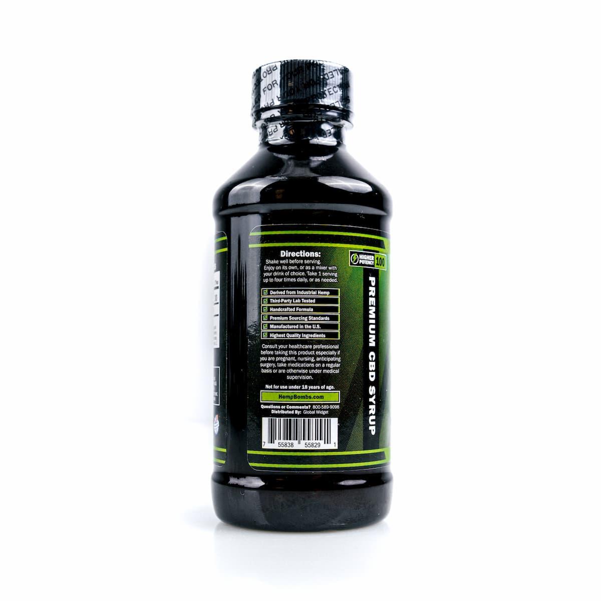 Hemp Bombs, CBD Relaxation Syrup, 4oz, 100mg of CBD 2