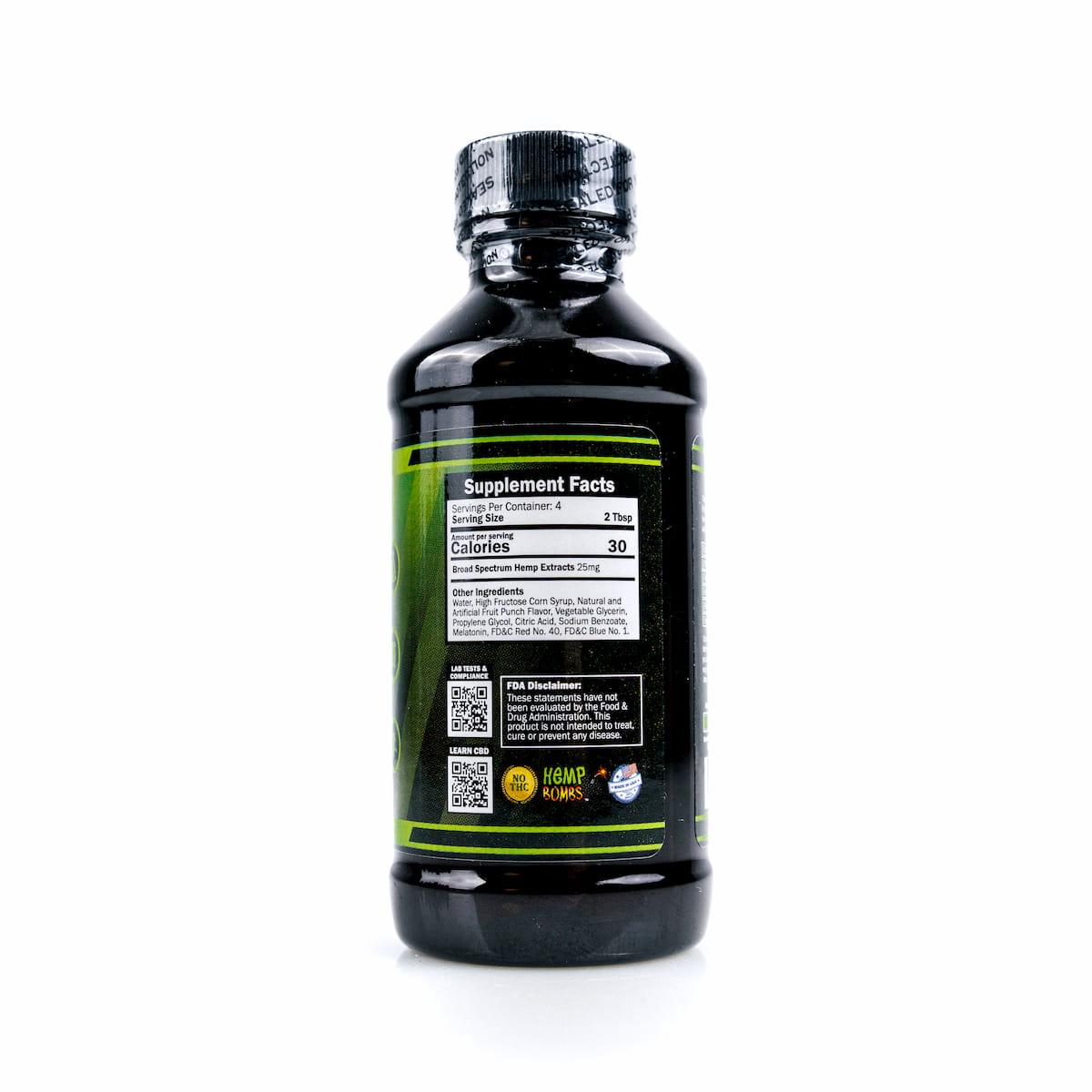 Hemp Bombs, CBD Relaxation Syrup, 4oz, 100mg of CBD 3
