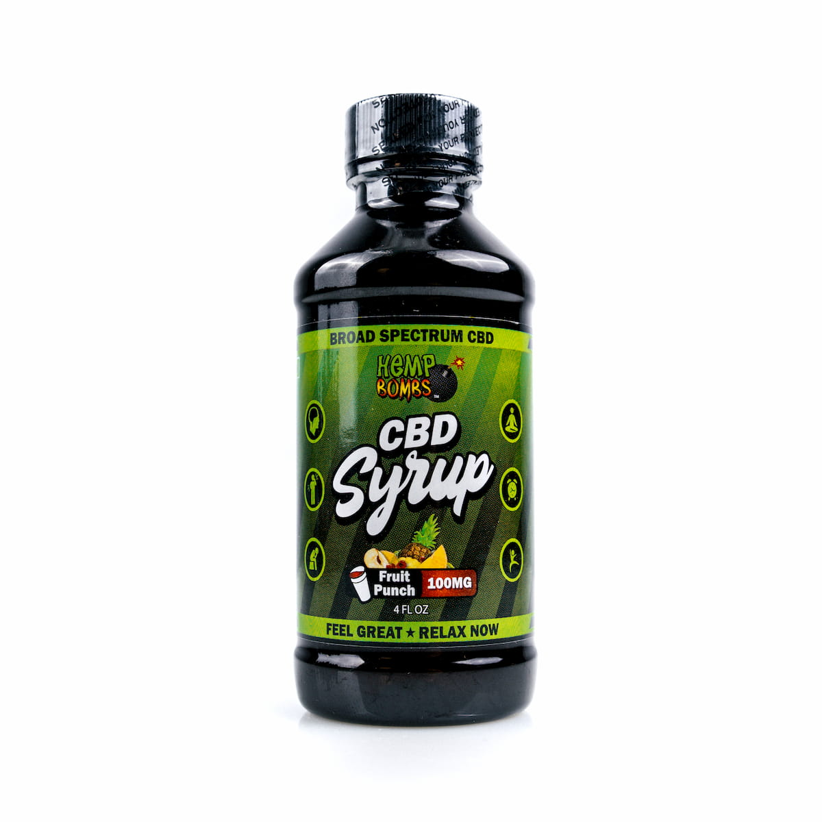 Hemp Bombs, CBD Relaxation Syrup, 4oz, 100mg of CBD