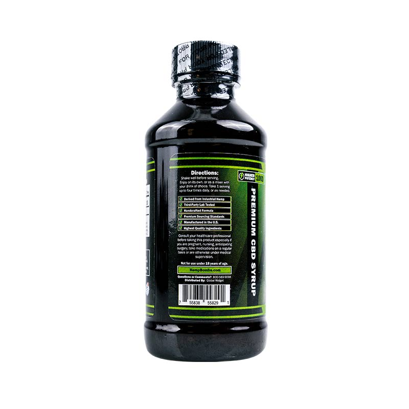Hemp Bombs, CBD Relaxation Syrup, Broad Spectrum THC-free, 4oz, 1000mg of CBD3