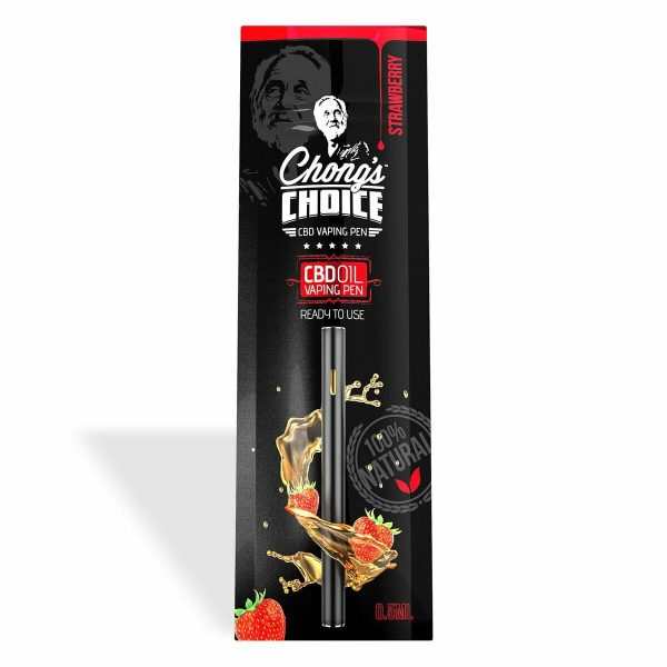 Chong's Choice, Vaping Pen, Strawberry, THC Free, 0.25mg of CBD
