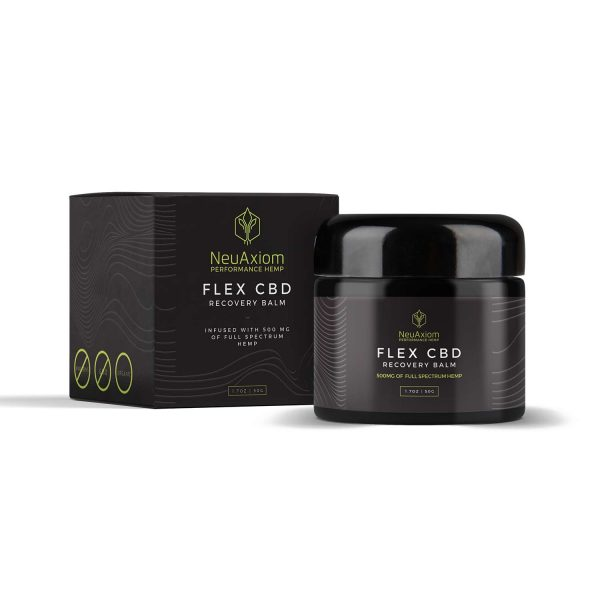 NeuAxiom, FLEX CBD Recovery Balm, 1,7oz, 500mg of CBD