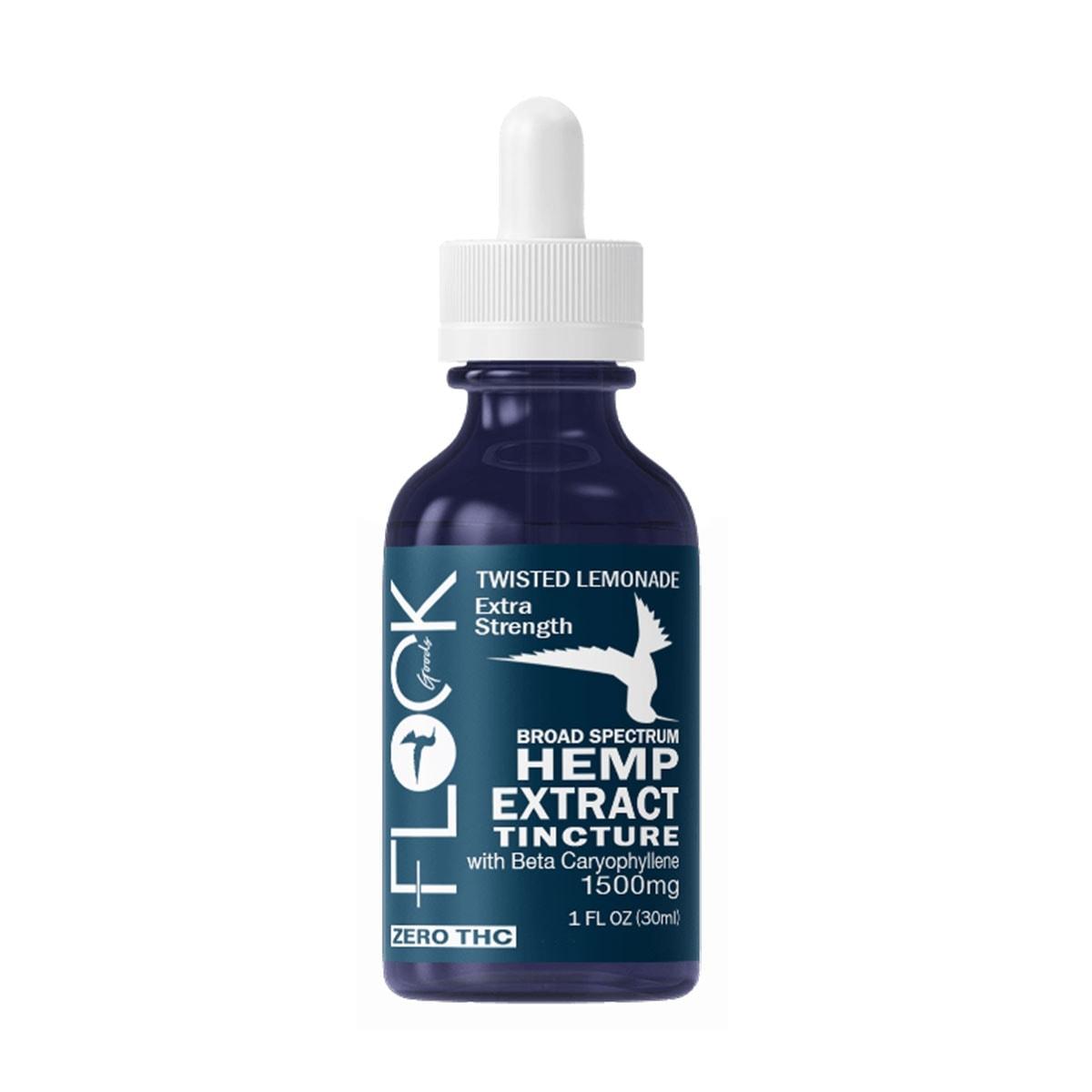 Flock-Goods,-Hemp-Extract-Tincture,-Broad-Spectrum-THC-free,-Twisted-Lemonade,-1oz,-1500mg-of-CBD-