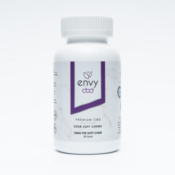 Envy CBD, CBD Gummies, Sour, 20 Count, 200mg of CBD