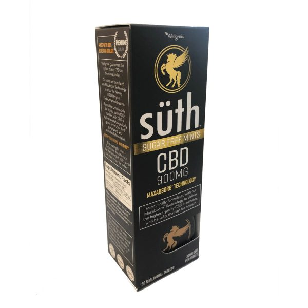 Suth, CBD Sublingual Mint Original, 30-Count, 900mg of CBD