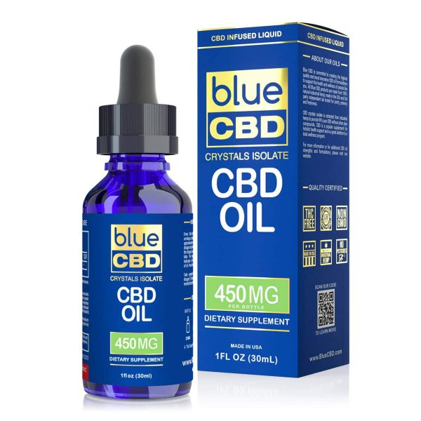Blue CBD, CBD Oil Tincture, 1oz, 450mg of CBD